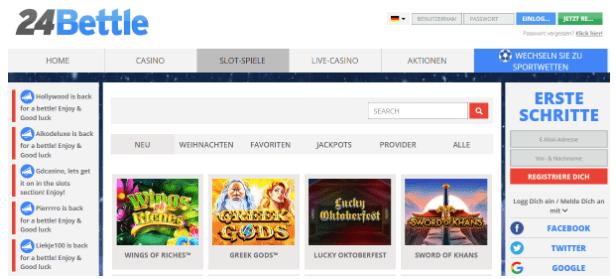 Rezension des Casinos 24Bettle, eines der führenden Online-Glücksspielunternehmen